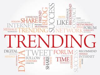 Trending word cloud, business concept