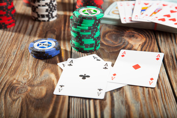 The combination of poker and chips