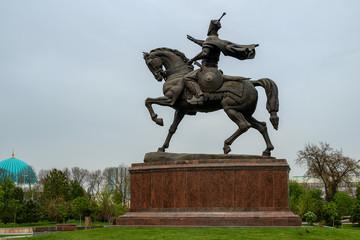 Tamerlane Statue in Tashkent, Uzbekistan