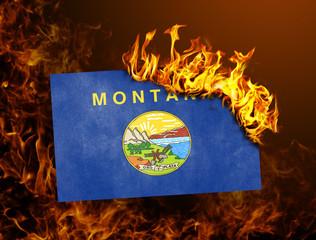 Flag burning - Montana