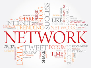 Network word cloud, business concept