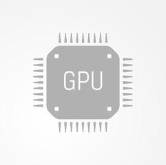 GPU Graphics processing unit icon