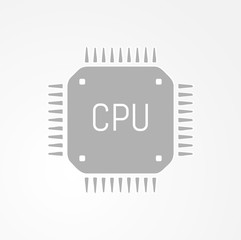 computer chip or microchip icon