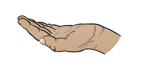 open black hand