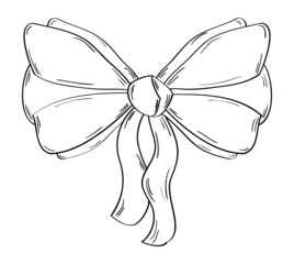 ribbon on the white background