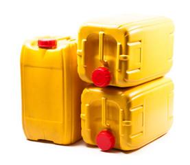 Yellow plastic gallon