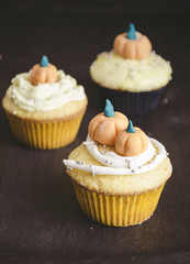 Cupcakes decorated with fondant