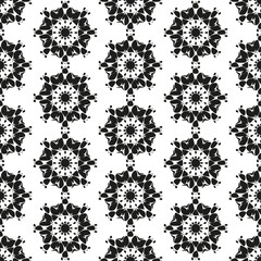 Seamless pattern with abstract flowers. Repeating modern stylish