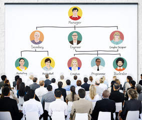 Business People Meeting Team Company Structure Concept