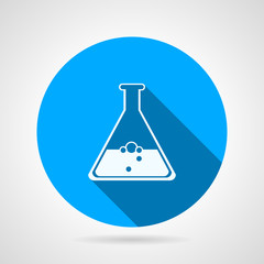 Laboratory flask flat vector icon