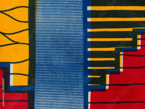 Manufactured African fabric (cotton) - 81849697