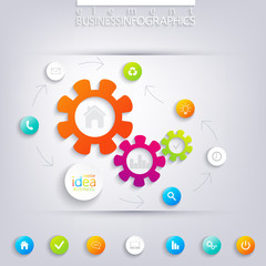 Modern infographic design with place for your text. Can be used
