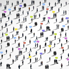 Communication People Diverse Crowd Business People Concept