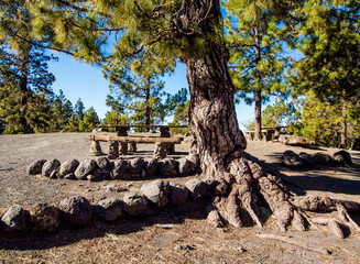Campsite on the southern slopes of Teide. Tenerife