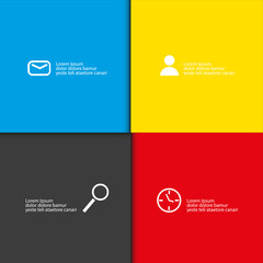 infographic color theme with place for your text