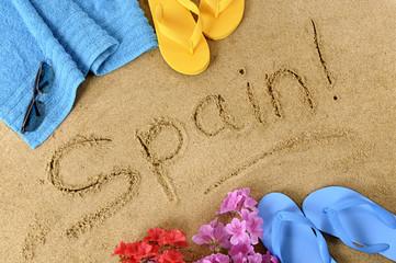 Spain beach background