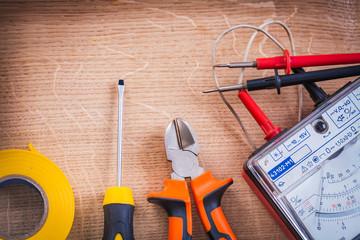 electrical tools multimeter tester nippers screwdriver roll insu