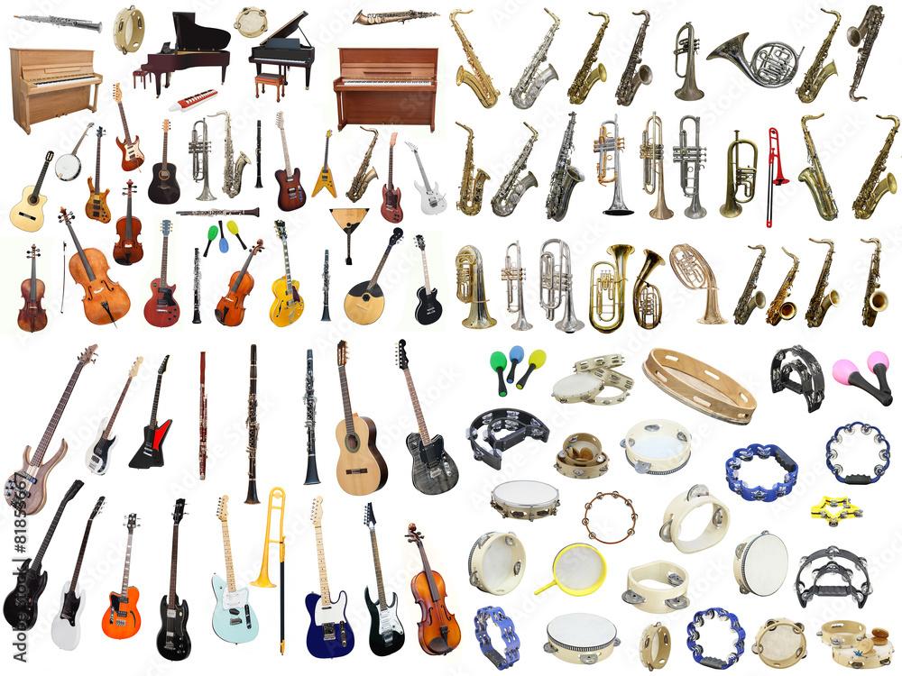 Plakat Instrumenty Muzyczne Wally24pl