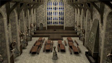 intérieur château médiéval