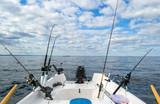 Salmon Baltic sea fishing from small boat - 81854066
