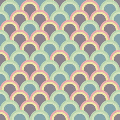 Abstract background with half circles. Seamless vector pattern.