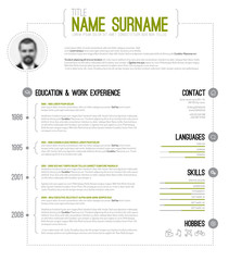 Minimalistic cv / resume template