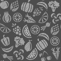 Hintergrund Muster Gemüse und Obst Vektor