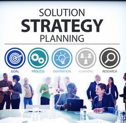 Strategy Business Goals Solution Success Concept
