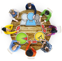 Community Brainstorming Business Meeting Planning Concept
