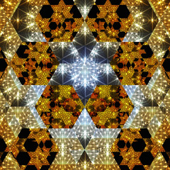 Digital Illustration of a kaleidoscopic Pattern