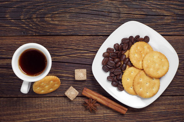Delicious cookies and coffee
