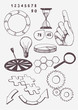 Set of hand drawn business elements. Vector - 81856851