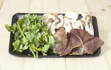 mushrooms and vegetable