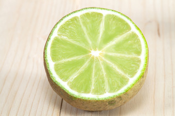 lime on wood background
