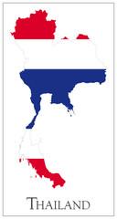 Thailand flag map