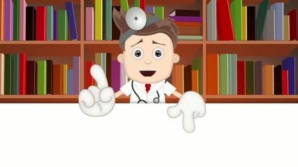 Ben Boy Angry Doctor Doc Medicone Hospital Cartoon