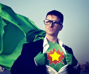 Star Strong Superhero Success Professional Empowerment Concept