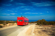wedding red bus in Cyprus - 81858090