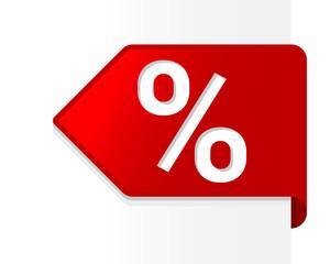 Prozent Schild Verkauf
