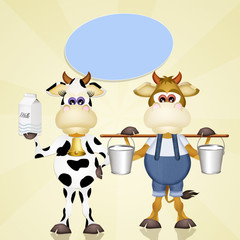 cows with milk
