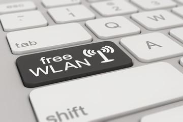 keyboard - free WLAN - black