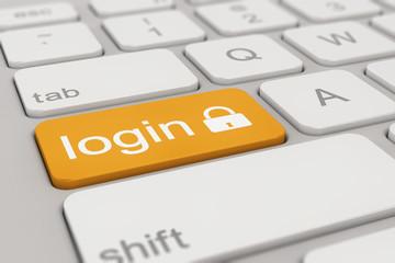 keyboard - login - yellow