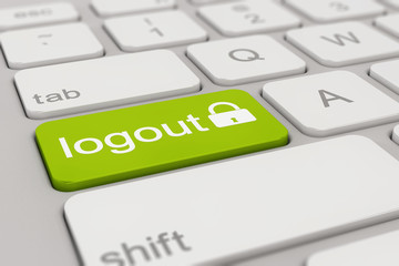 keyboard - logout - green