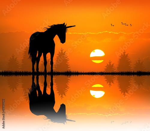 canvas print picture unicorn