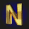 n golden letter