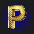 p golden letter