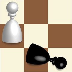 3D chess on squares board