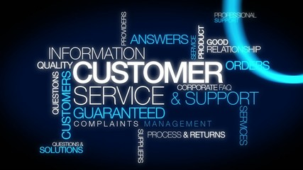 Customer Service Support Guarantee Words tag cloud Assistance