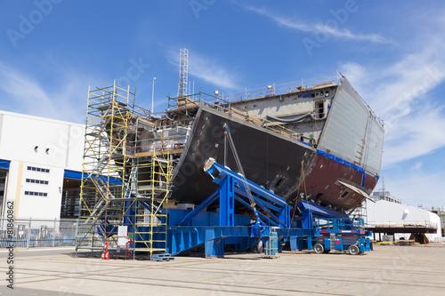 Leinwandbild Motiv Ship under construction
