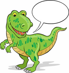 Cute Dinosaur with Speech Bubble